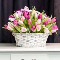 Корзина 51 нежный тюльпан R012