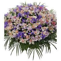 Сборная корзина орхидеи и ирисы R001