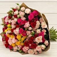 Букет 31 ветка кустовой розы R001