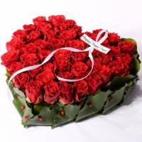 Сердце 31 красная роза R027